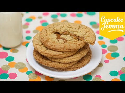 Chewy Salted Caramel Cookie Recipe | Cupcake Jemma