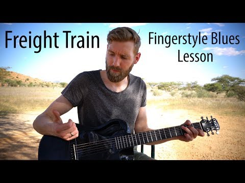 Freight Train Lesson | Classic Fingerstyle Blues (Tommy Emmanuel style)