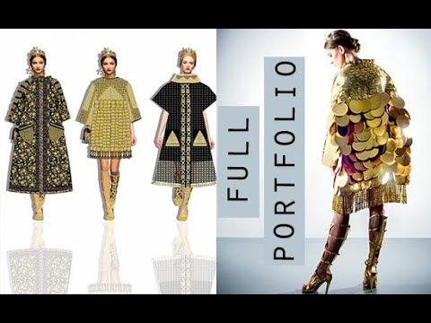 My First Class Degree & Award Winning Fashion Design Portfolio