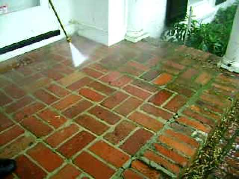 Cleaning Very old Brick Steps