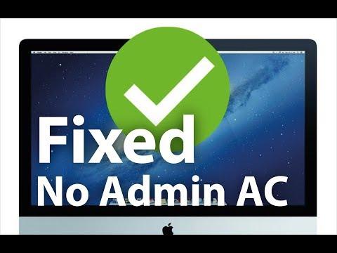 No Admin Account Fix  - Mac OS High Sierra