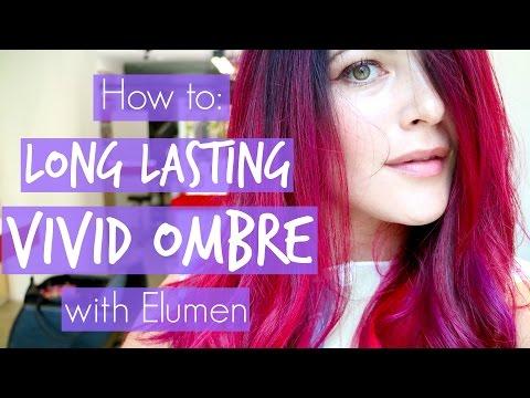 How I Get Long Lasting Vivid Pink/Red Ombre on Dark Hair with Elumen & Olaplex