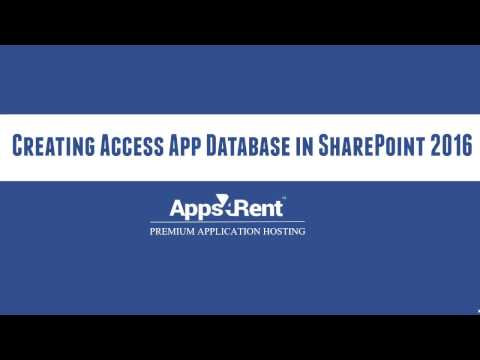 Creating Access App Database in SharePoint 2016