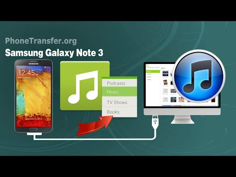 How to Sync Music, Playlist from Samsung Galaxy Note 3 to iTunes