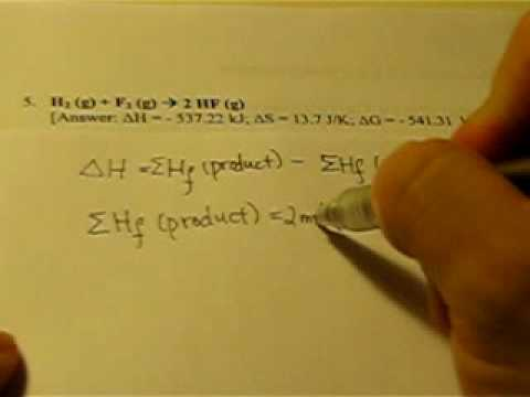 Thermodynamics Calculation Part I - delta H