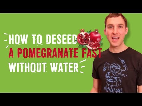 How to deseed a pomegranate FAST without water