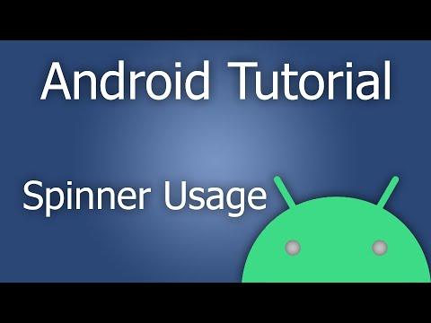 Drop Down Menu (Spinner) - Android Studio Tutorial