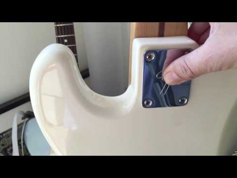 Why don't all Fenders have engraved neck plates ?  Fender F Logo Neckplate