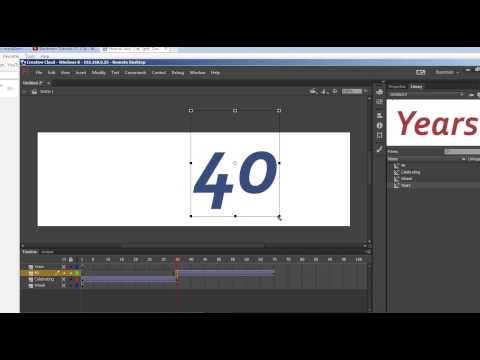 How to Animate an Adobe Illustrator CC or CS6 Drawing in Adobe Flash CC or CS6