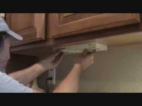 How to install an undercounter fluorescent light tube