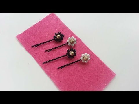 How To Create Beaded Flower Bobby Pins - DIY Crafts Tutorial - Guidecentral