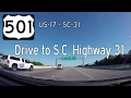 US Highway 501 - US Highway 17 - SC Highway 31 - South Carolina | Drive America's Highways 🚙