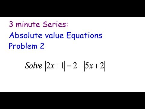 3 Minute Series:Double absolute equation