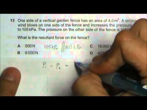 2013 O' Level Physics 5058 Paper 1 Solution Qn 11 to 15