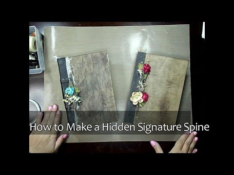How to Make a Hidden Signature Spine Tutorial