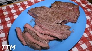 How to Cook a Top Round Steak or London Broil in the Toaster Oven~Good Cheap Steak