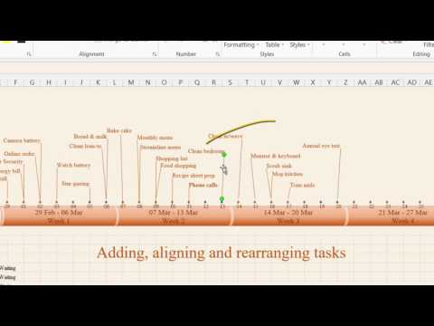 How to create timeline in MS Excel 2013 – 1. Timeline features.