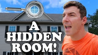 I Found A Hidden Room In Our House with Creepy Abandoned Stuff Inside!