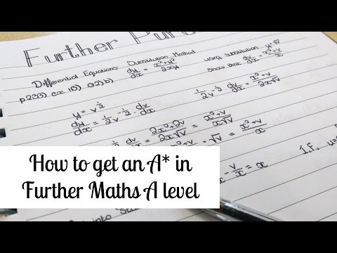 How I got an A* in Further Maths | alicedoesphysics
