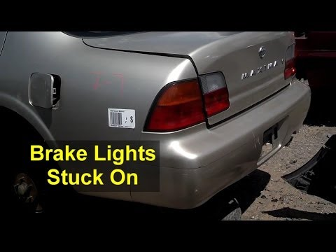 Brake lights will not go out. - Auto Information Series