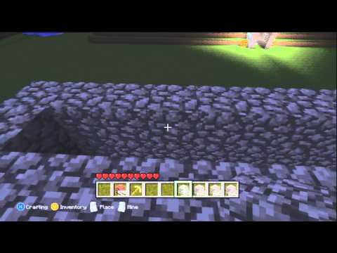How to make a Flowing Lava Sign on Minecraft Xbox 360 Edition