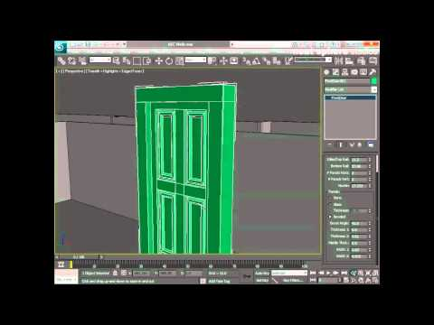 Learn  Autodesk 3ds Max -- Chapter 4 - Creating and Placing AEC Doors in Walls