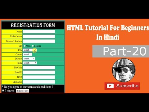 New HTML/HTML5 Tutorials For Beginners Creating Radio Buttons and Checkbox (Forms) (Part-20)