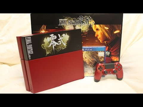 Final Fantasy Type-0 HD PS4 Bundle Suzaku Limited Edition Unboxing