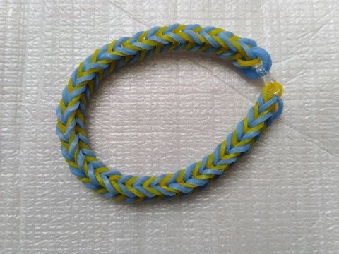 how to make loom band with 2 colors