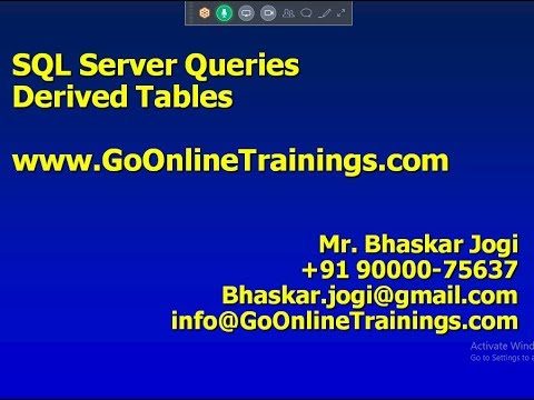 10 SQL Server Queries - Derived Tables