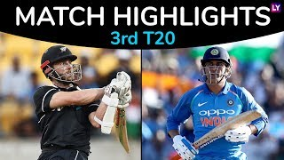 IND vs NZ 3rd T20 2019 Stats Highlights: New Zealand beat India by 4 runs, Clinch Series 2-1