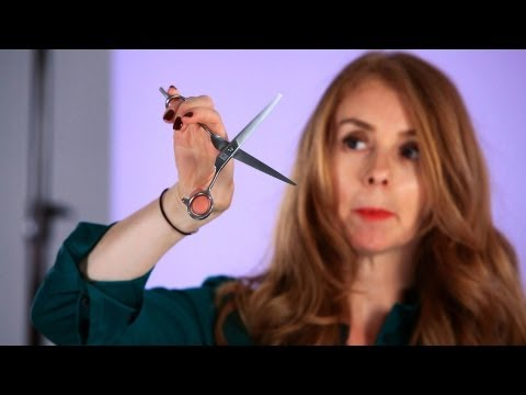 How to Hold Scissors While Cutting Hair | Hair Cutting