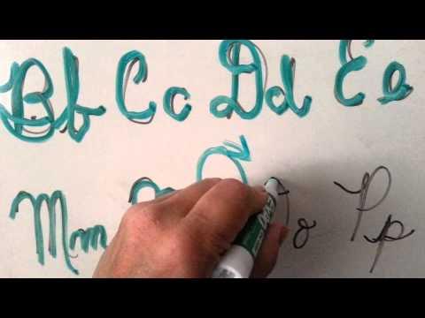 Teach lefties cursive writing (Lefty #4)