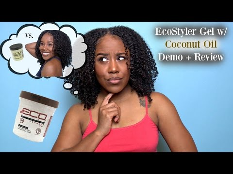 Eco Styler Gel COCONUT OIL Demo + Review   Natural Hair