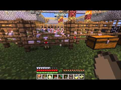 Minecraft Hatching chicken eggs (LVL: Machine Gun)