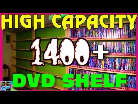 How to Build a 1400+ High Capacity DVD and GAME SHELF, PS2, XBOX, SEGA Saturn - Retro GP