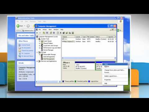 Windows® XP: How to change the drive letter?
