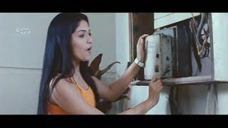 Girls trying to make Prajwal Devraj Get Electric Shock |  Latest Kannada Movie Comedy Videos