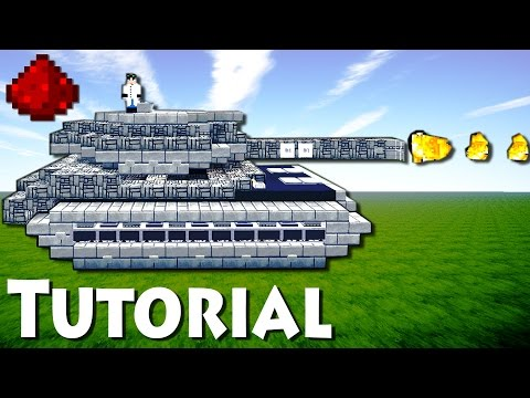 Minecraft: Working Redstone Tank Tutorial + DOWNLOAD / Fire Shooting / More functions /