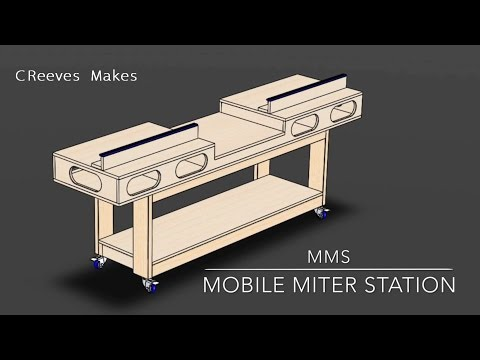 CReeves Makes Mobile Miter Saw Station Workbench (1) ep002