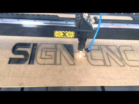 SIGN-1390 90W laser cutting machine for advertising words making, wood cutting