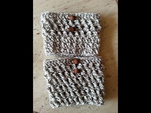 Crochet easy boot cuffs DIY tutorial