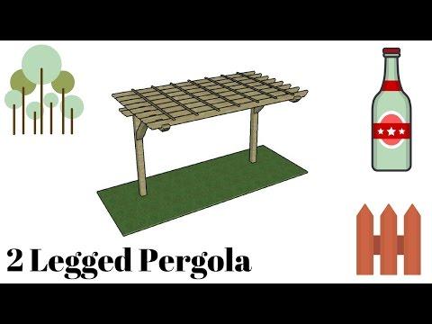 2 Legged Pergola Plans