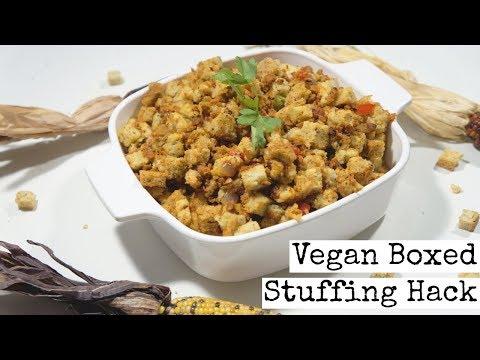 Easy Boxed Stuffing Hack | Vegan Thanksgiving