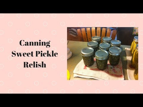Canning Sweet Pickle Relish!!