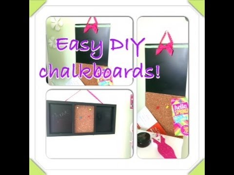 Easy DIY cute chalkboard from recycled frame!