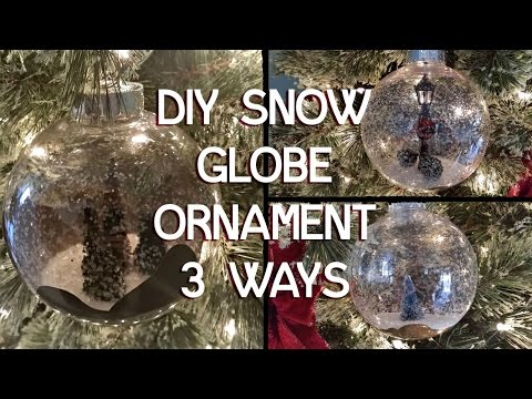 Snow Globe Christmas Ornament 3 Ways - DIY Tutorial