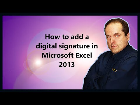 How to add a digital signature in Microsoft Excel 2013