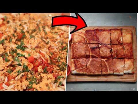4 Flavor Sheet Pan Crunch-Wrap Review- Buzzfeed Test #110