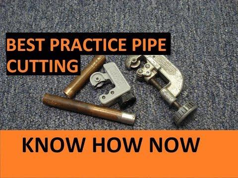 Cut Copper Pipe Using a Tube Cutter
